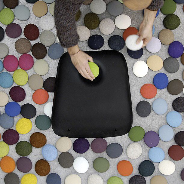 Bright as a button - Boum chair by Kristalia #chair #button