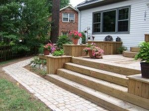 Deck stairs planters – Decor ideas