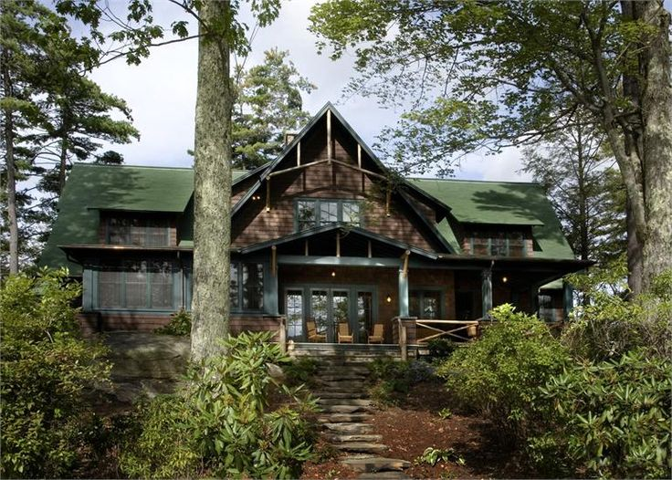 Adirondack-Style Lake House in Winsted, Connecticut, by ...