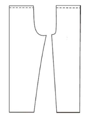 Штаны на резинке выкройка манжет