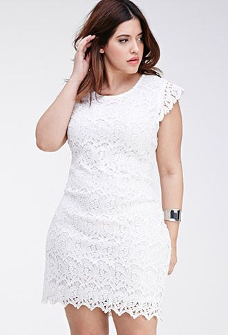 Plus size chocolate lace dress