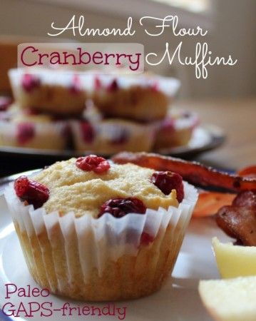 Cranberry Almond Flour Muffins with Fresh Cranberries suitable for the GAPS diet | Health, Home, & Happiness (tm)