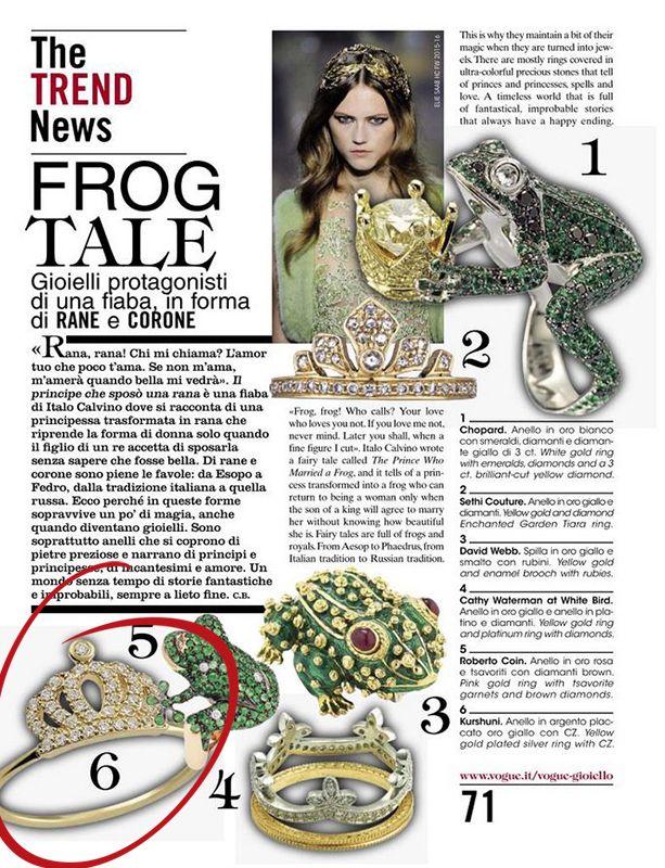 Press | AIBIJOUX Vogue Gioiello, Settembre 2015 #Kurshuni #designjewelry #bijoux #AIBIJOUX