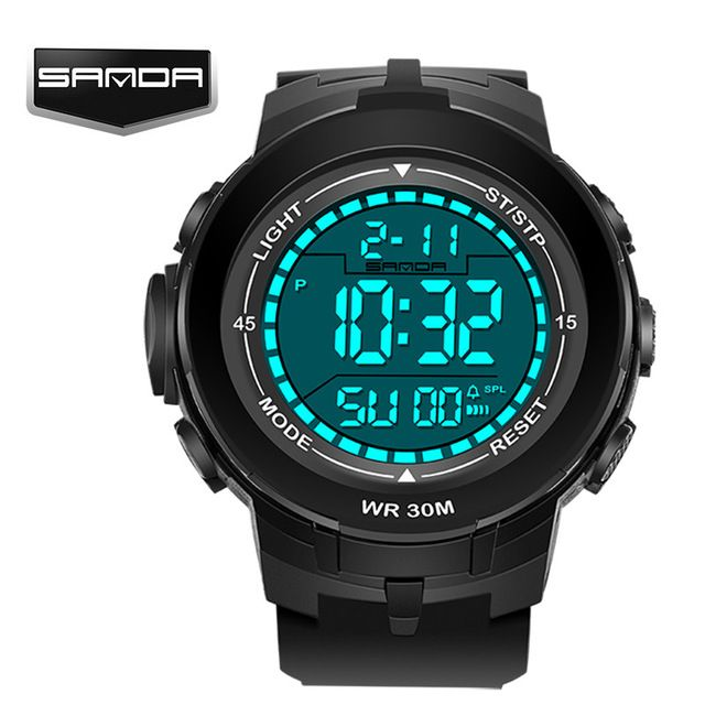 Buy now sanda Fashion Men Sports Watches Waterproof 30m Outdoor Fun Digital Watch Swimming Diving Wristwatch Reloj Hombre Montre Homme just only $10.90 with free shipping worldwide  #menwatches Plese click on picture to see our special price for you