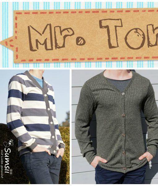 "Ebook ""Mr. Torvi"" von Annas Country Mr. Torvi (XS-XXL):  *Anleitung: Nähen des Cardigans  *Schnittmuster: Mr. Torvi inkl. Kurz-/Langarm"