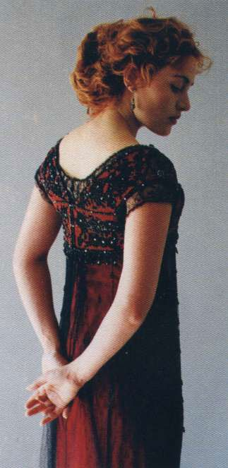 This dress from Titanic spawned my obsession with black lace over red. In case you were wondering.