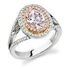 1.90ct Vintage GIA Certified Oval Pink-Purple Diamond Engagement Ring Fancy/SI2    #fancy #diamonds #fancydiamonds #gia #bling #fancycolors #ring #engagement #wedding