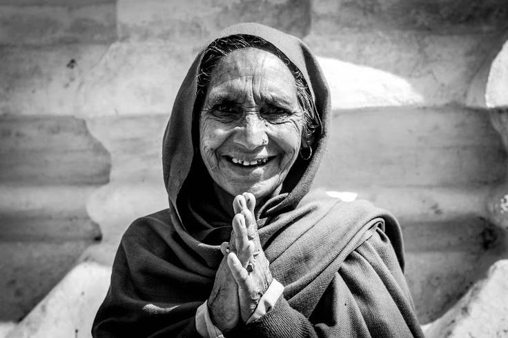A lady I met at the Monkey Temple, Kathmandu, Nepal