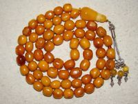 Old, Real, Antique, Natural Amber Stone Necklace / Chain