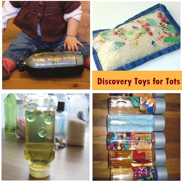 Activities for 1 year olds i especially like these DIY Discovery Toys.