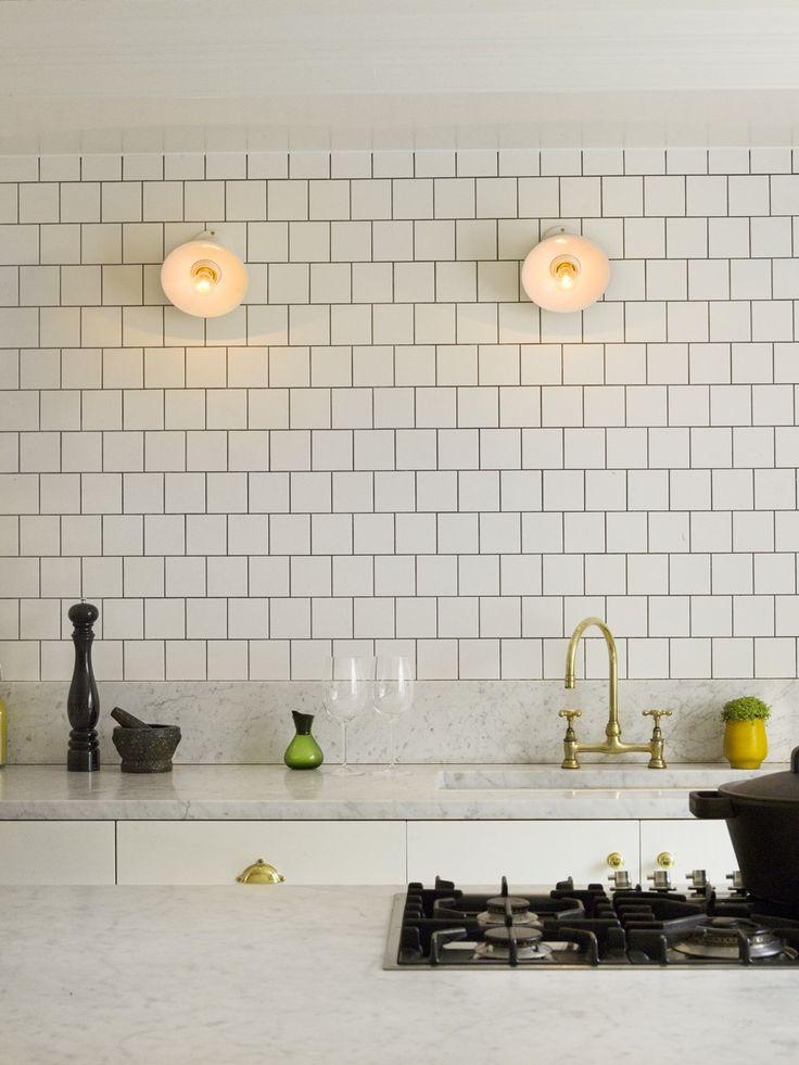 white tile black grout
