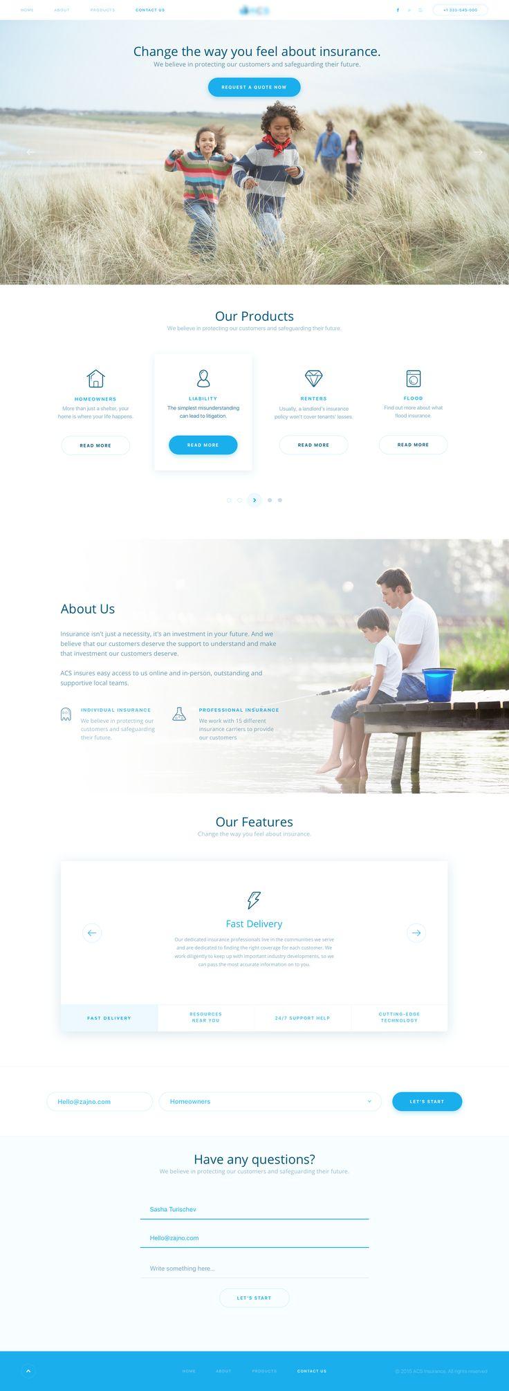 Homepage insurance blurred