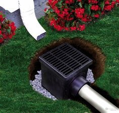 """The Drainage Products Store - NDS 12"""" Catch Basin Kit w/ Black Grate, $61.64 (http://stores.drainageproducts.us/nds-12-catch-basin-kit-w-black-grate/)"""