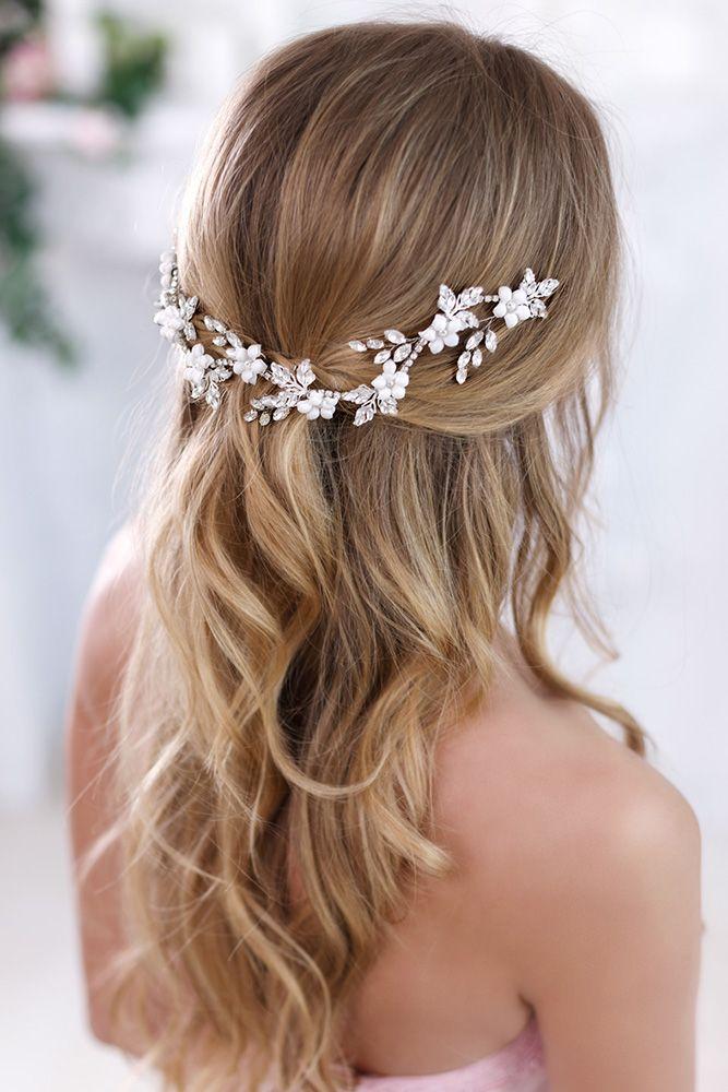 Bridal Hair Accessories Topgracia Wedding Forward Hair Jewelry Wedding Bridal Hair Jewelry Wedding Hair Half