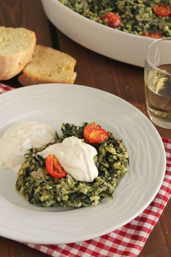 Ένα εκλεπτυσμένο σπανακόρυζο φούρνου με μοτσαρέλα και ντοματίνια - The one with all the tastes