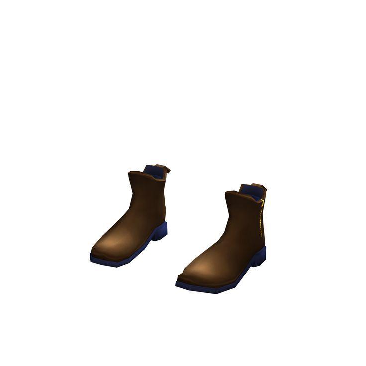 Grey - Black boots
