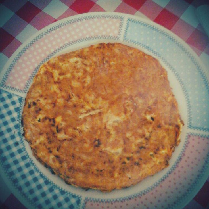 Tortilla de atún al curry