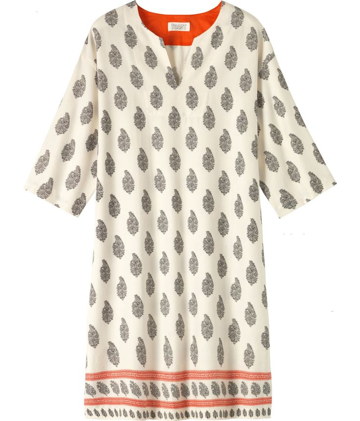 TOAST BORDER PRINT NIGHTIE