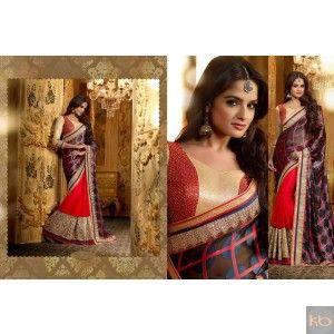 Mehar In Black & Red Color Designer Party Wear Saree₹3,187
