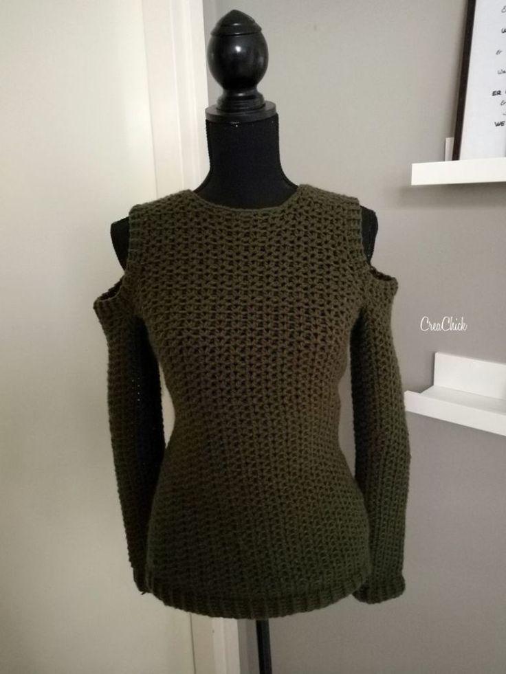 #haken, gratis patroon, Nederlands, trui met open schouders, #haakpatroon