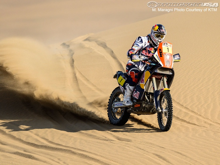 KTM's Cyril Despres at the 2013 Dakar Rally