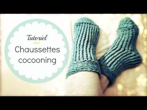 Tricoter des chaussettes faciles en tricotin circulaire - YouTube
