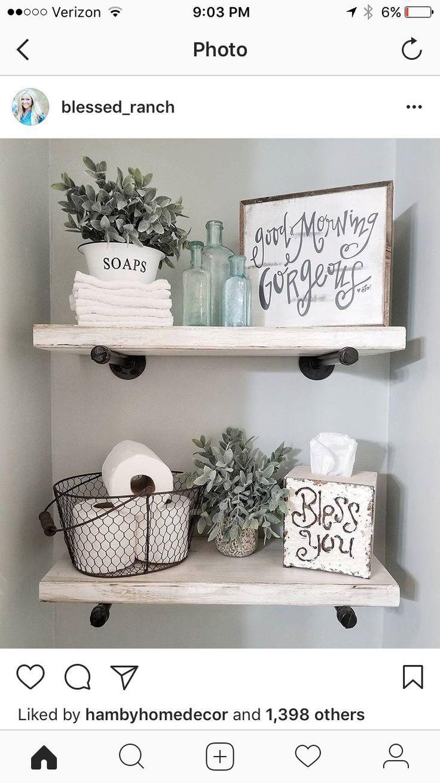 Rustikale Bauernhaus-Innenarchitektur-Ideen zu Gunsten von Ihr Badezimmer. Einfache und einzi…