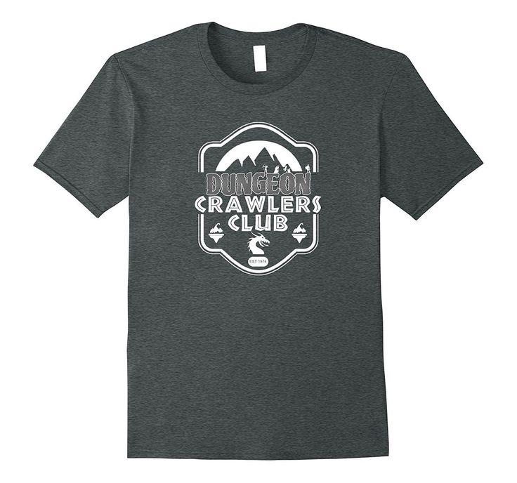 Dungeon Crawlers Club Cool Gamer Geek RPG T Shirt White Font