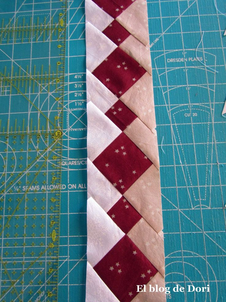 Nice border. The instructions are in Spanish, but for those who know what they're doing there are enough pictures to follow along. El blog de Dori: patchwork seminole