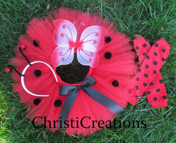 Halloween Lady Bug Tutu Costume by ChristiCreations on Etsy, $45.00