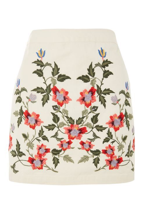 PETITE Ivy Embroidered Skirt