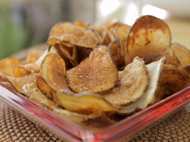 Homemade Seasoned BBQ Potato Chips ~ Guy Fieri