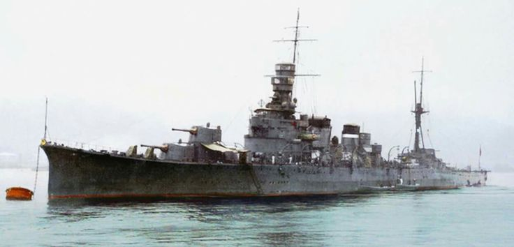 One of the Japanese ships that fought  at Savo Island, the Kako.
