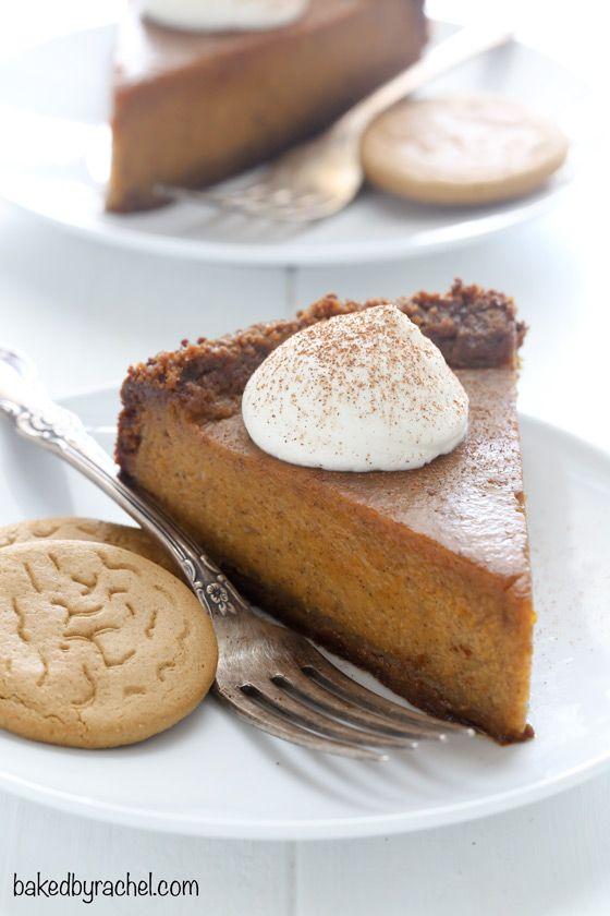 Deep dish pumpkin pie with gingersnap crust recipe