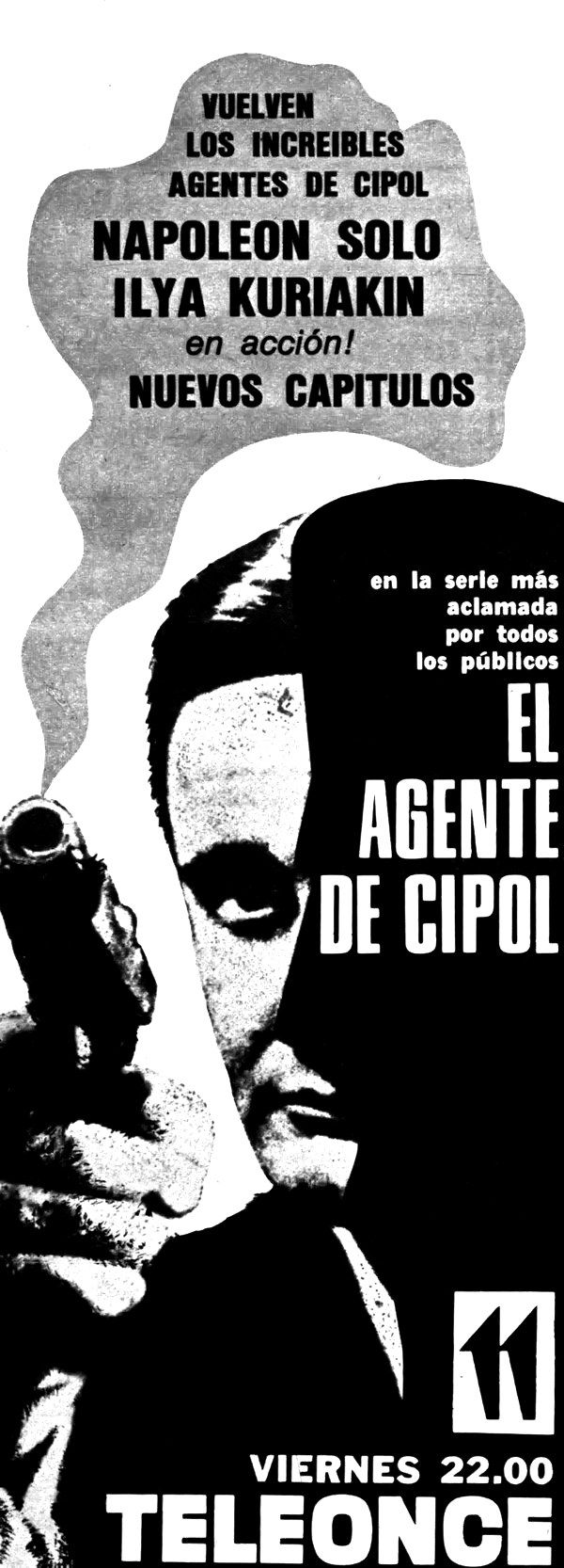 Publicidad de programación. CANAL 11, Buenos Aires, década del 60.