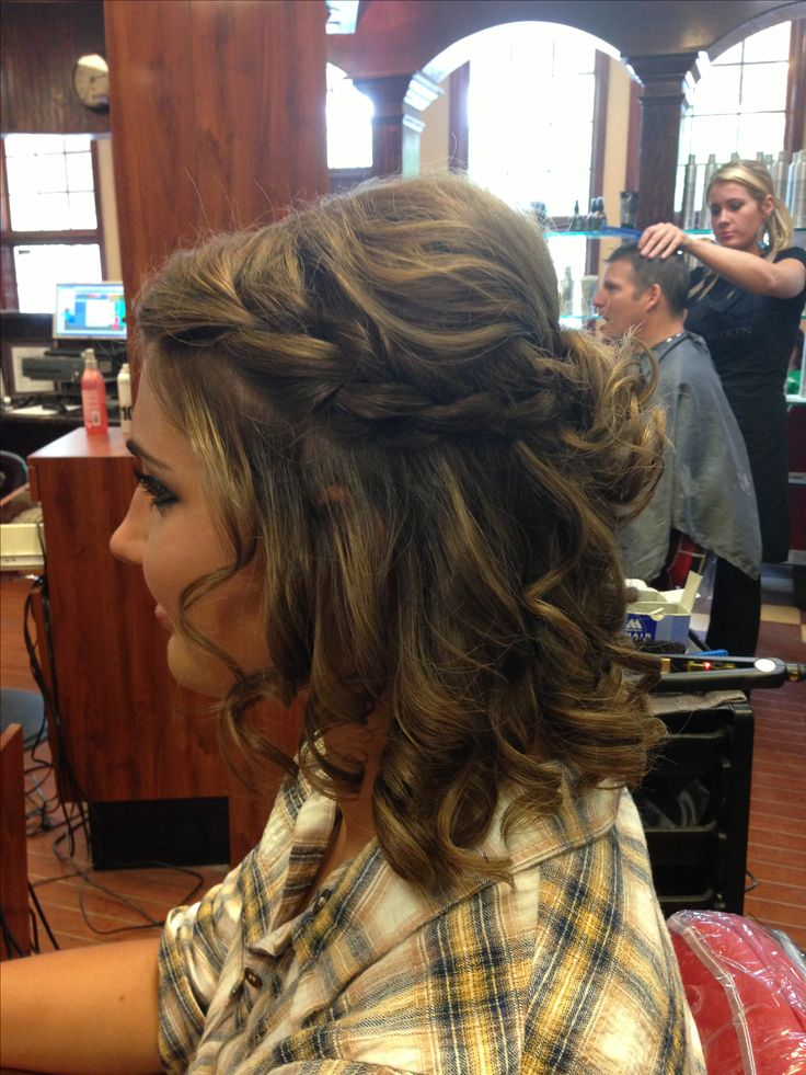 Brilliant 1000 Ideas About Braided Homecoming Hairstyles On Pinterest Short Hairstyles Gunalazisus