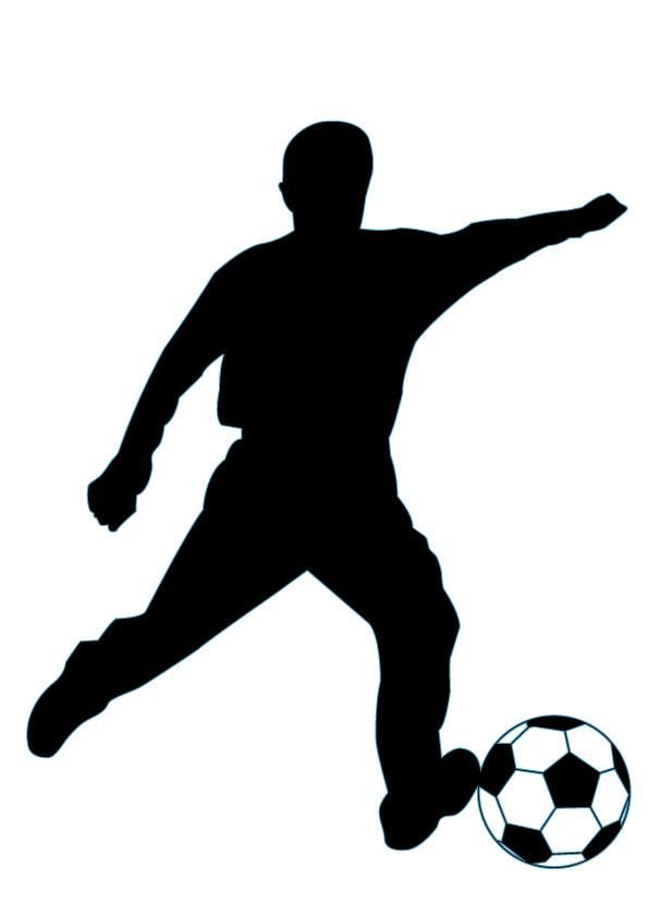 Soccer Silhouette - 49 : Custom Wall Decals, Wall Decal Art, and Wall Decal Murals | WallMonkeys.com