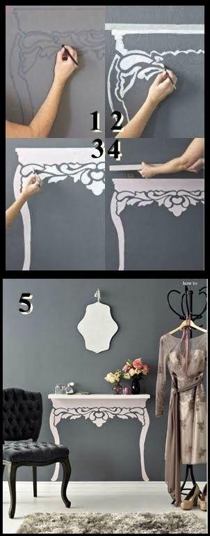 How to make up a floating shelf