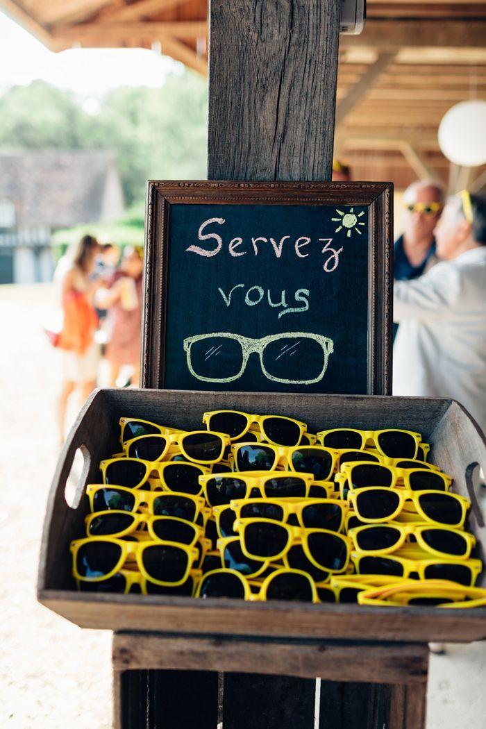 un mariage en Normandie en jaune