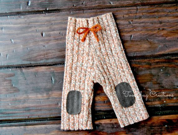 Newborn Photography Pants  Upcycled Fall by ToodleBugCreations