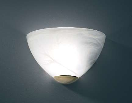 Alabaster glass wall light that can be LOW ENERGY