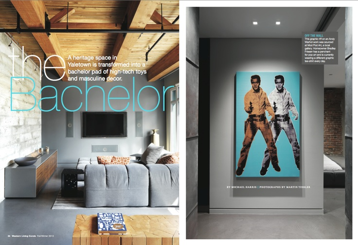 "Gold winner in Homes & Gardens. ""The #Bachelor"" by Brennan Higginbotham published in Western Living #Condo, 2010."