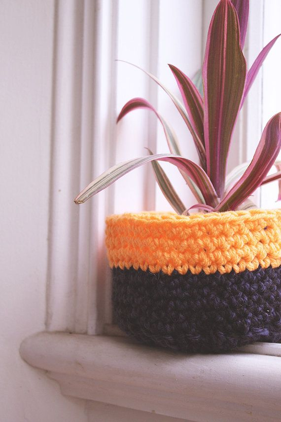 Orange Anything Bowl  Handmade Crochet Bowl by DyeNumber2 on Etsy, $15.00