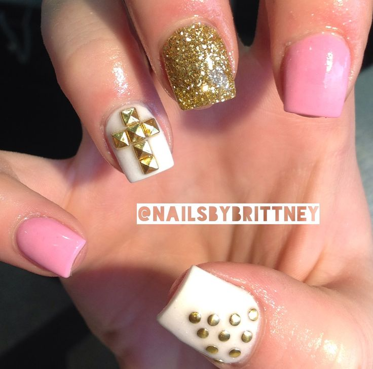 30 Best images about Pink Gold Nails on Pinterest | Nail ...