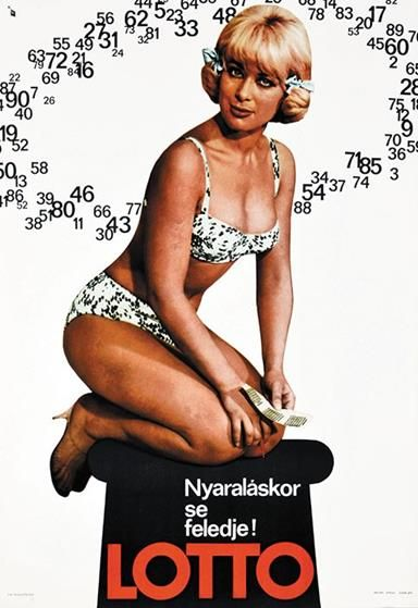 Lottery. Don't Forget it Even When You are on a Vacation. (Gál, Mátyás - 1966) - Get this poster for $150 at Budapest Poster Gallery's Shop!