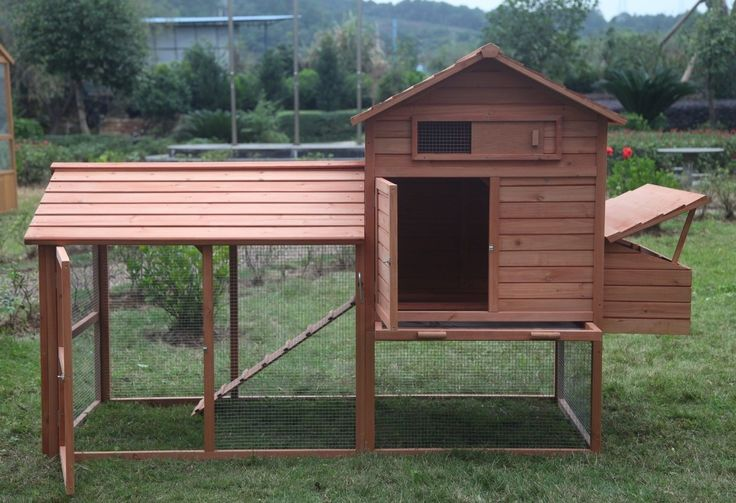 """Large 99"""" Deluxe Solid wood Hen Chicken Cage House Coop Huge w/ Run nesting box"""
