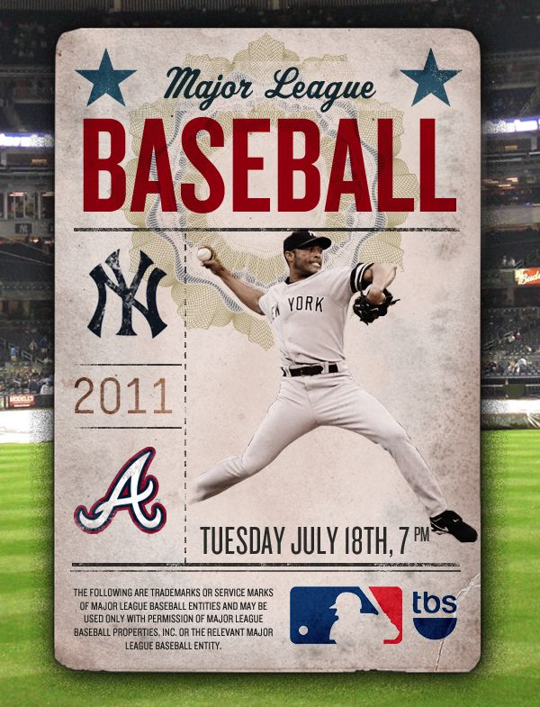 Baseball Playoffs - Spec. by Charles Ross, via Behance