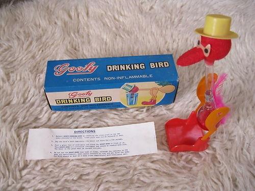 Goofy Drinking Bird 60/70's Original Retro Vintage Classic Toy