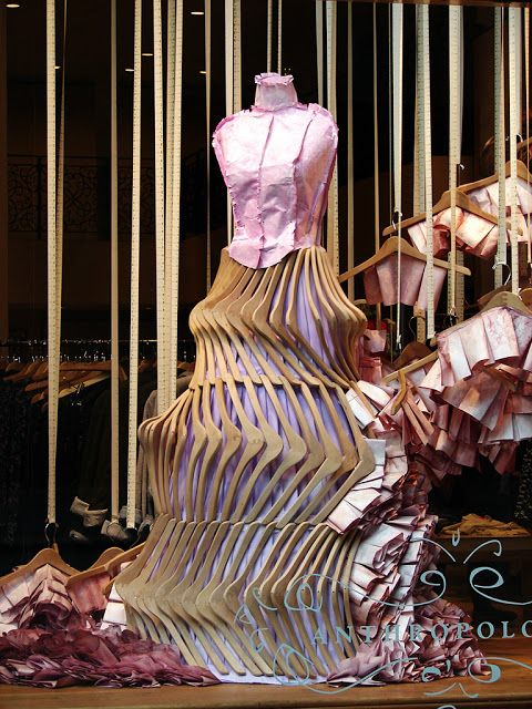 This is so fantastic & clever. Beautiful Window Displays!: anthropologie #anthrofave #juvenilehalldesign