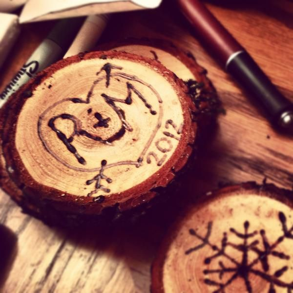 Homemade ornaments from a tree branch... with some tweakage I think these would be spectacular...